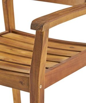 Christopher Knight Home 306255 Renee Outdoor 7 Piece Acacia Wood Dining Set Teak FinishRustic MetalDark Brown 0 5 300x360