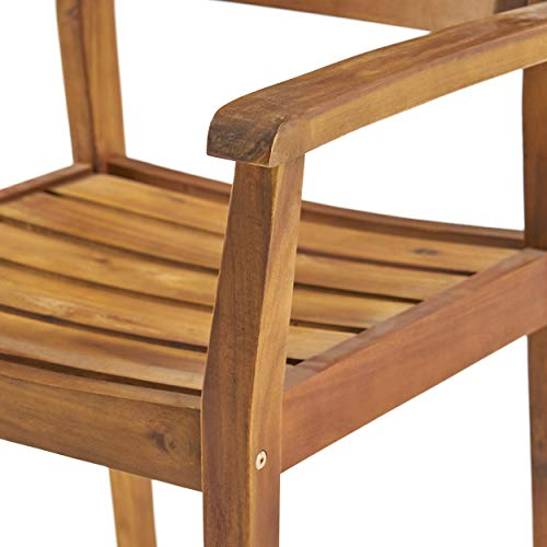 Christopher Knight Home 306255 Renee Outdoor 7 Piece Acacia Wood Dining Set Teak FinishRustic MetalDark Brown 0 5