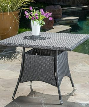 Christopher Knight Home Cabela 5 Piece Wicker Outdoor Dining Set With Cushions Perfect For Patio In Grey 0 0 300x360