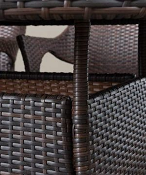 Christopher Knight Home Lennox Outdoor Wicker Round Dining Set 7 Pcs Set Multibrown 0 2 300x360