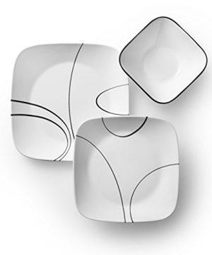 Corelle Service For 6 Chip Resistant Simple Lines Dinnerware Set 18 Piece 0 0 300x360