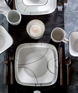 Corelle Service For 6 Chip Resistant Simple Lines Dinnerware Set 18 Piece 0 1 300x360
