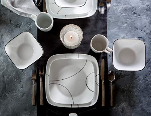 Corelle Service For 6 Chip Resistant Simple Lines Dinnerware Set 18 Piece 0 1