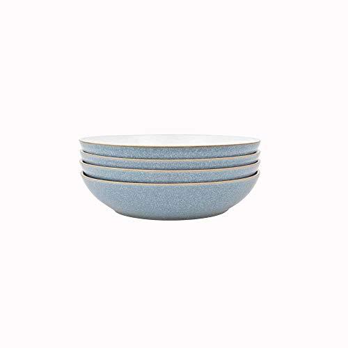 Denby 381048944 Elements 4 Piece Pasta Bowl Set Blue 0