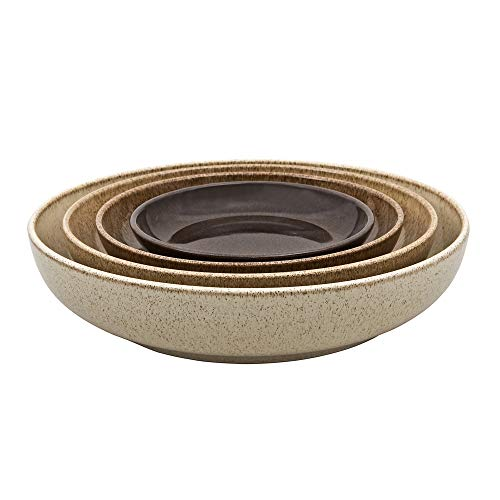Denby Studio Craft 4 Piece Nesting Bowl Set One Size Brown Earthy 0