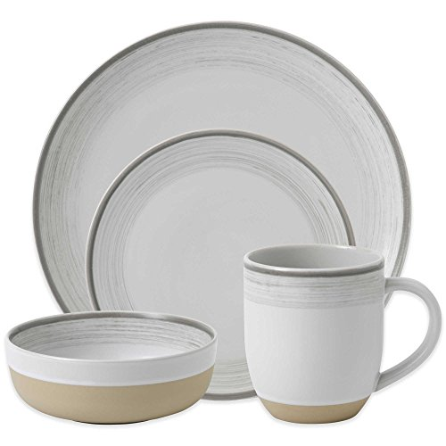 ED Ellen Degeneres Beautifully Crafted By Royal Doulton Brushed Glaze 16 Piece Stoneware Dinnerware Set In White 0