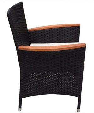 Festnight 9 Piece Outdoor Patio Rattan Wicker Furniture Dining Table Chair Set Black 0 4 300x360