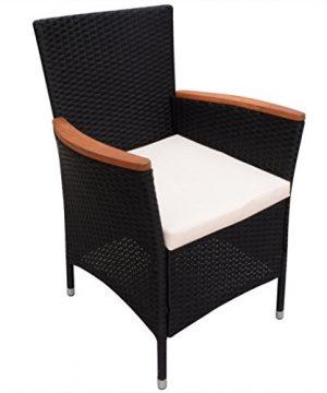 Festnight 9 Piece Outdoor Patio Rattan Wicker Furniture Dining Table Chair Set Black 0 5 300x360