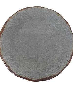 Giannas Home 12 Piece Rustic Farmhouse Melamine Dinnerware Set Gray 0 0 300x360