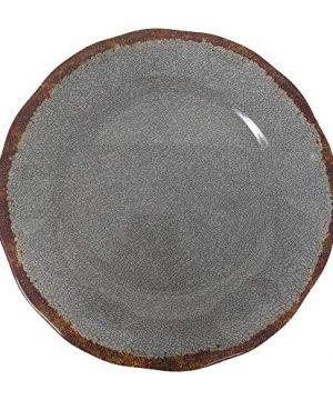 Giannas Home 12 Piece Rustic Farmhouse Melamine Dinnerware Set Gray 0 1 300x360