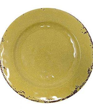 Giannas Home 12 Piece Rustic Farmhouse Melamine Dinnerware Set Service For 4 12 Piece Dinnerware Set Yellow 0 0 300x360