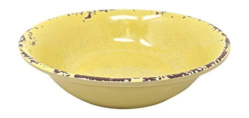 Giannas Home 12 Piece Rustic Farmhouse Melamine Dinnerware Set Service For 4 12 Piece Dinnerware Set Yellow 0 2