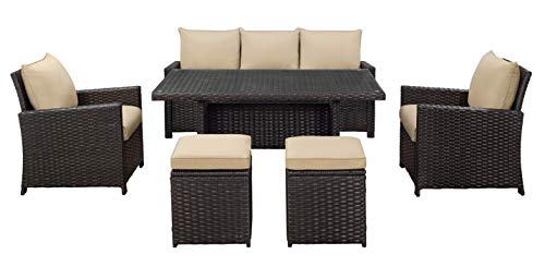 Glenwillow Home 6 Piece Wicker Patio Dining Set 0 1