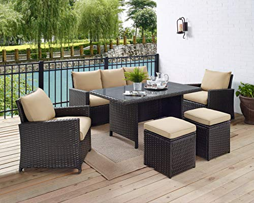 Glenwillow Home 6 Piece Wicker Patio Dining Set 0