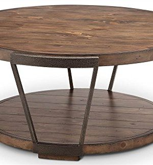 Magnussen Yukon Industrial Bourbon Coffee Table With Casters 0 300x322