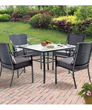 Mainstays Alexandra Square 5 Piece Patio Dining Set Grey With Leaves Seats 4 0 0 300x360