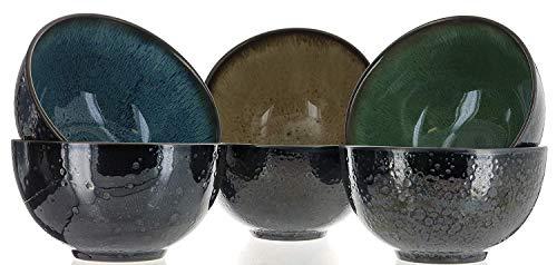 Mikasa Sapphire Stoneware Bowls Set Of 6 Bowls Dishwasher Safe Microwave Safe 0 1