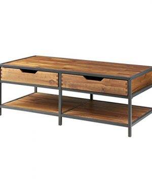 Modern Rustic Industrial Wood And Metal Accent Coffee Table 0 300x360