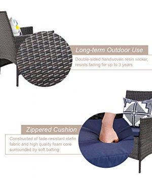 PHI VILLA 7 Piece Patio Dining Sets Outdoor Slatted Metal Table With 157 Umbrella Hole 6 Rattan Wicker Chair For Deck Yard Porch 0 2 300x360