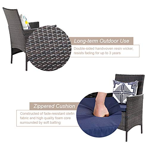 PHI VILLA 7 Piece Patio Dining Sets Outdoor Slatted Metal Table With 157 Umbrella Hole 6 Rattan Wicker Chair For Deck Yard Porch 0 2