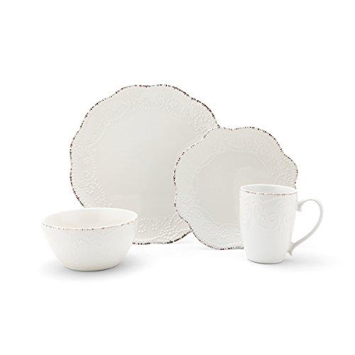 Pfaltzgraff Everly 16 Piece Stoneware Dinnerware Set Service For 4 0