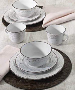 Pfaltzgraff Trellis 16 Piece Dinnerware Set Service For 4 Distressed White 0 1 300x360