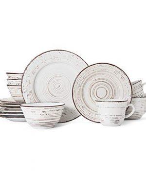Pfaltzgraff Trellis 16 Piece Dinnerware Set Service For 4 Distressed White 0 2 300x360