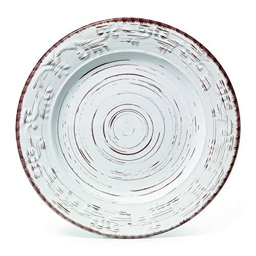 Pfaltzgraff Trellis 16 Piece Dinnerware Set Service For 4 Distressed White 0 3