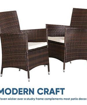 SOLAURA 5 Pieces Patio Dining Table Set Brown Wicker Outdoor Dining Chairs Patio Garden Set For Garden Lawn Balcony And Swimming Pool SideSquare 0 1 300x360