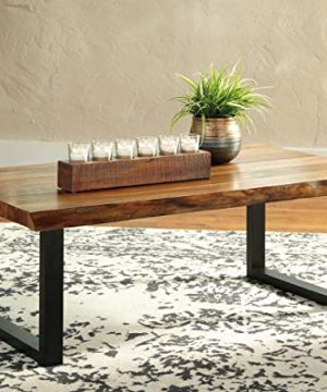 Signature Design By Ashley Brosward Contemporary Rectangular Coffee Table BrownBlack 0 0 300x360