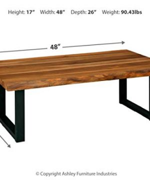 Signature Design By Ashley Brosward Contemporary Rectangular Coffee Table BrownBlack 0 2 300x360