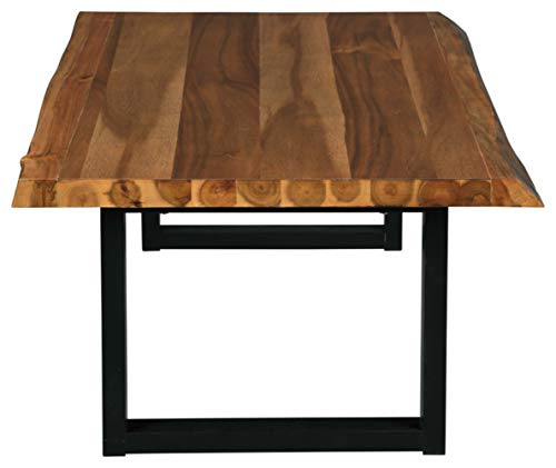 Signature Design By Ashley Brosward Contemporary Rectangular Coffee Table BrownBlack 0 3