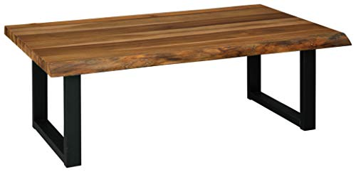 Signature Design By Ashley Brosward Contemporary Rectangular Coffee Table BrownBlack 0