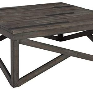Signature Design By Ashley Haroflyn Rustic Square Cocktail Table Gray 0 300x290