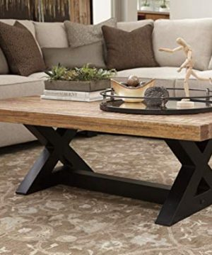 Signature Design By Ashley Wesling Coffee Table Brown Top W Black Base 0 0 300x360