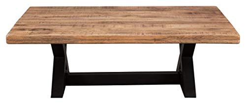 Signature Design By Ashley Wesling Coffee Table Brown Top W Black Base 0 1