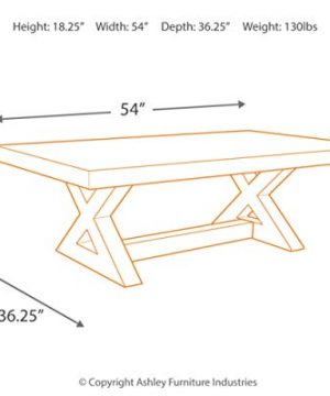 Signature Design By Ashley Wesling Coffee Table Brown Top W Black Base 0 2 300x360