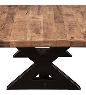 Signature Design By Ashley Wesling Coffee Table Brown Top W Black Base 0 3 300x334