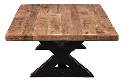 Signature Design By Ashley Wesling Coffee Table Brown Top W Black Base 0 3