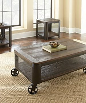 Steve Silver Barrow Lift Top Coffee Table With Casters In Chocolate Mocha Finish 0 300x360