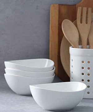Sweese 103401 Porcelain Bowls 28 Ounce For Cereal Salad And Desserts Set Of 4 White 0 4 300x360