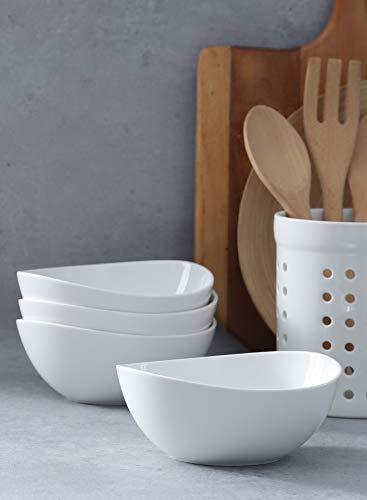 Sweese 103401 Porcelain Bowls 28 Ounce For Cereal Salad And Desserts Set Of 4 White 0 4