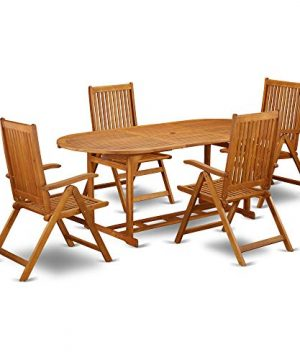 This 7 Piece Acacia Wood Outdoor Patio Dining Sets Includes One Outdoor Table And Six Foldable Outdoor Chairs 0 0 300x360