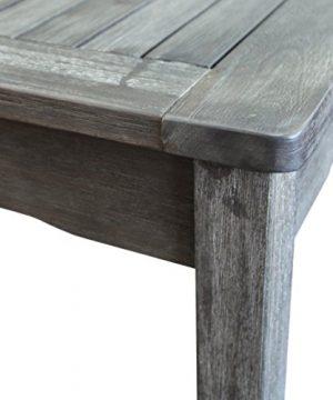 Vifah Renaissance Outdoor 5 Piece Hand Scraped Wood Patio Dining Set 0 0 300x360
