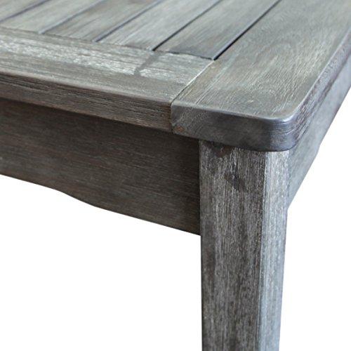 Vifah Renaissance Outdoor 5 Piece Hand Scraped Wood Patio Dining Set 0 0