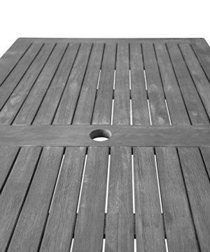 Vifah Renaissance Outdoor 5 Piece Hand Scraped Wood Patio Dining Set 0 1 300x360