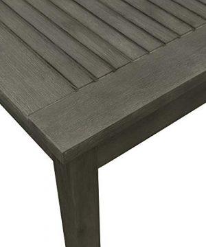 Vifah V1840SET6 Renaissance Outdoor 5 Piece Wood Patio Stacking Table Dining Set Gray 0 1 300x360