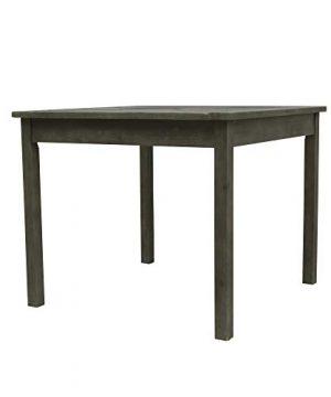 Vifah V1840SET6 Renaissance Outdoor 5 Piece Wood Patio Stacking Table Dining Set Gray 0 4 300x360