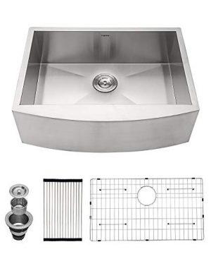 24 Farmhouse Sink Single Bowl Logmey 24 Inch Stainless Steel Kitchen Sink 18 Gauge Apron Front Single Bowl Kitchen Farm Sink 0 300x360