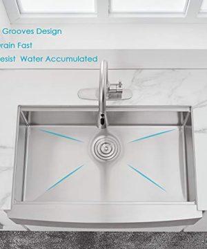 30 X 22 X 9 Inch Farmhouse Kitchen Sink Workstation Ledge 18 Gauge Stainless Steel Sink Modern Apron Front Single Bowl Kitchen Sink 0 1 300x360